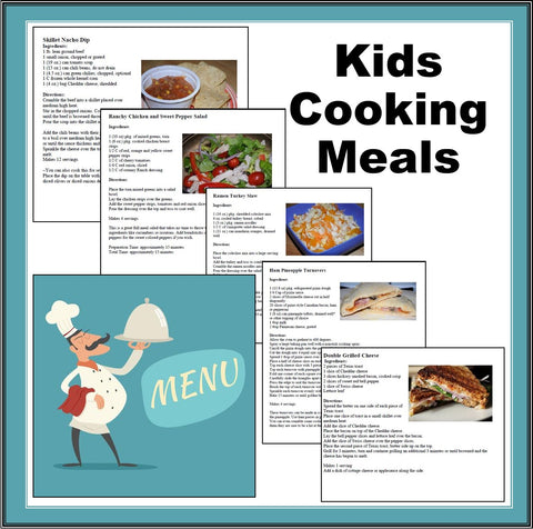 Kids Cooking Meals-Lunch and Dinner Recipe Cookbook for Kids