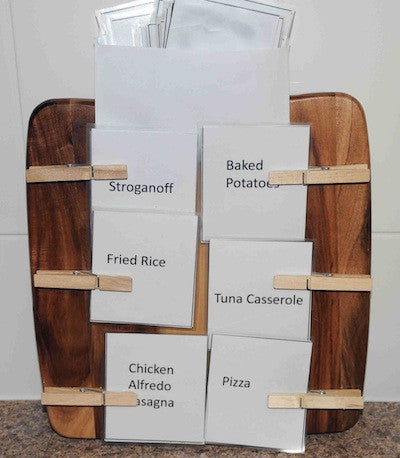 Menu Board Recipe Cards