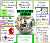 Teaching Kids about Money Lessons, Games and Activities Bundled Set