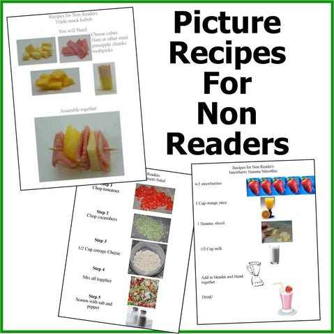 Picture Recipes for Non Readers