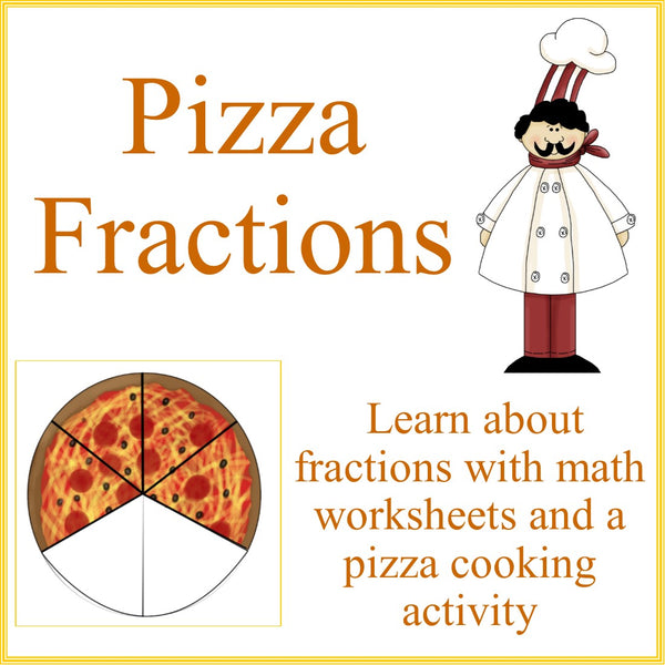 Pizza Fractions Math And Cooking Activity Kids Cooking