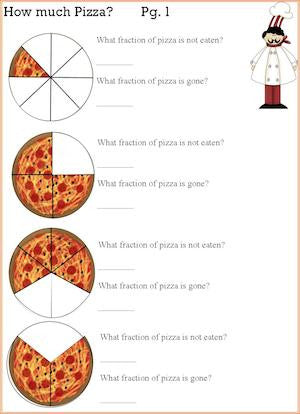 Pizza Fractions Math and Cooking Activity – Kids Cooking Activities