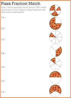 math worksheet : pizza fraction worksheets  paraphrasing equivalent fractions  : Pizza Fractions Worksheet