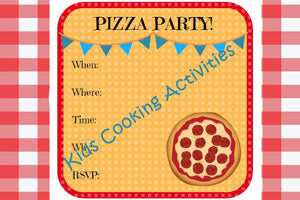 Printable Kids Cooking Party Invitation - Pizza Party Invitation