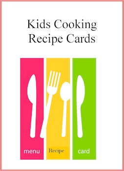 Kids Cooking Recipe Cards Deluxe Set-140 Recipes in 14 Categories