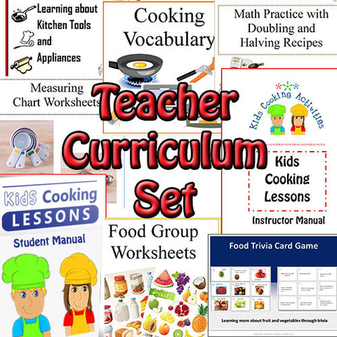 Teacher Curriculum Set for Teaching Children Cooking