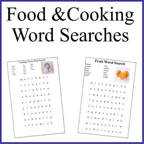 Fun with Food Word Searches