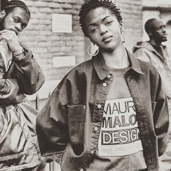 Lauryn Hill of hip hop group the Fugees wears Maurice Malone tee