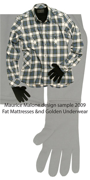 Fashion designer Maurice Malone 2009 men's shirt design samples for FM&GU