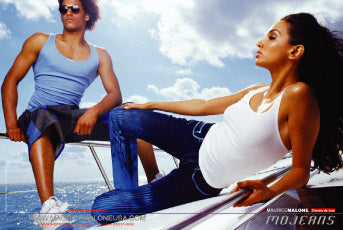 Mojeans denim de lux advertisement spring 2000 shot in Miami for Maurice Malone