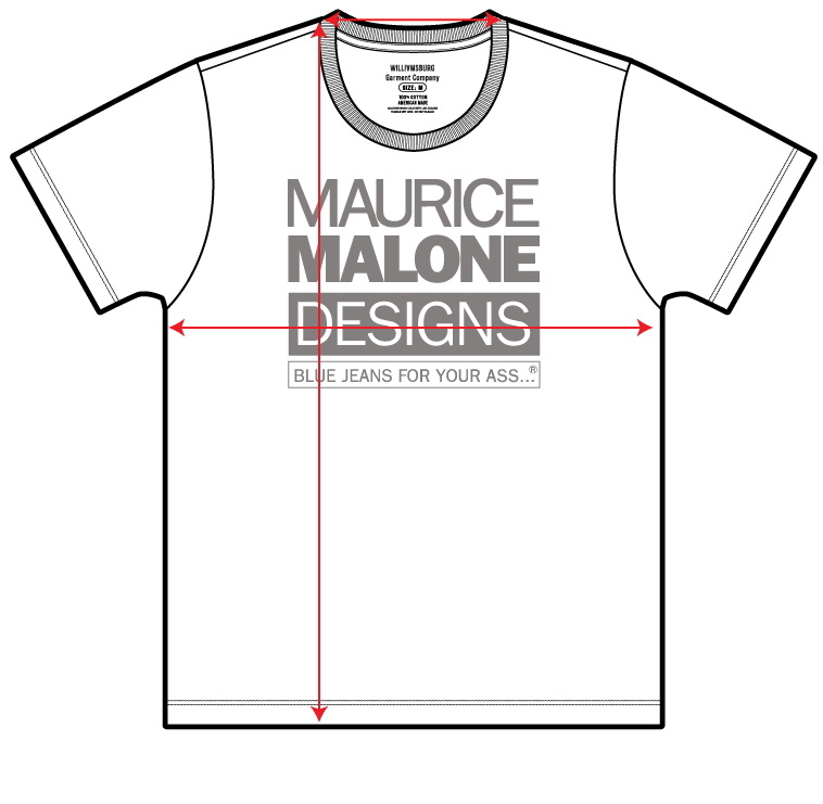How to measure the Maurice Malone American made short sleeve t-shirt
