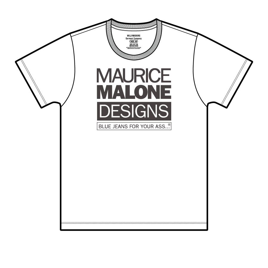 Maurice Malone American made short sleeve t-shirt fit guide