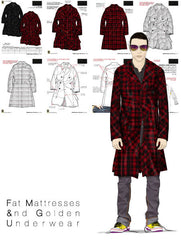 Fashion tech pack & cad graphics sample from designer Maurice Malone
