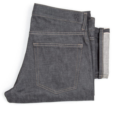 Raw jeans from denim designer Maurice Malone's brand Williamsburg Garment Company