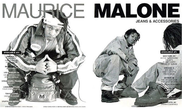 iconic streetwear advertisement by black fashion designer Maurice Malone