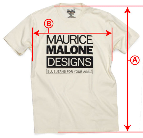 T-Shirt fit guide for basic Maurice Malone Streetwear tees