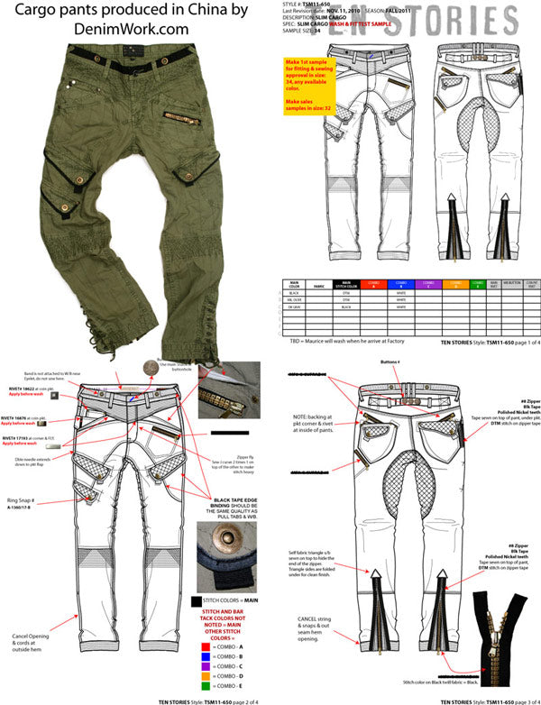 fashion designer maurice malone tech pack drawing samples