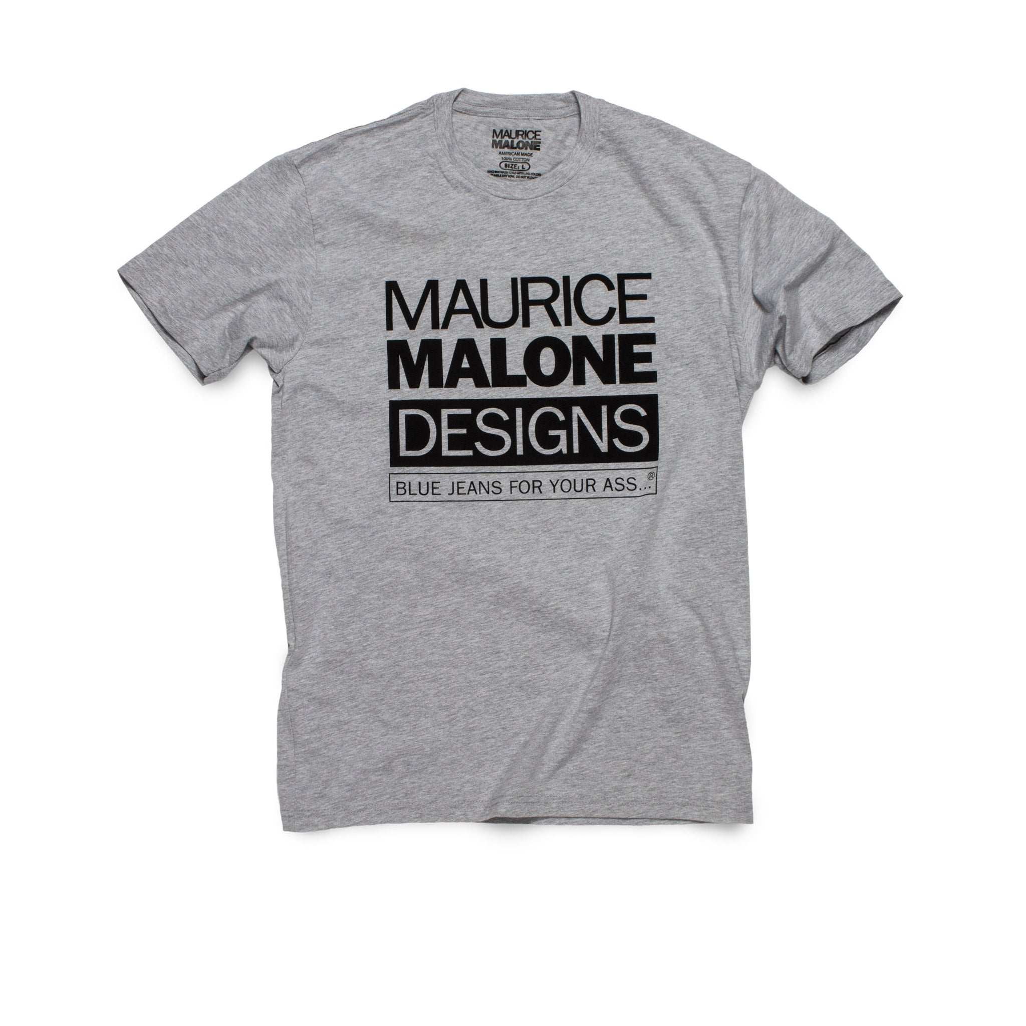 Maurice Malone t-shirt heather gray iconic streetwear logo