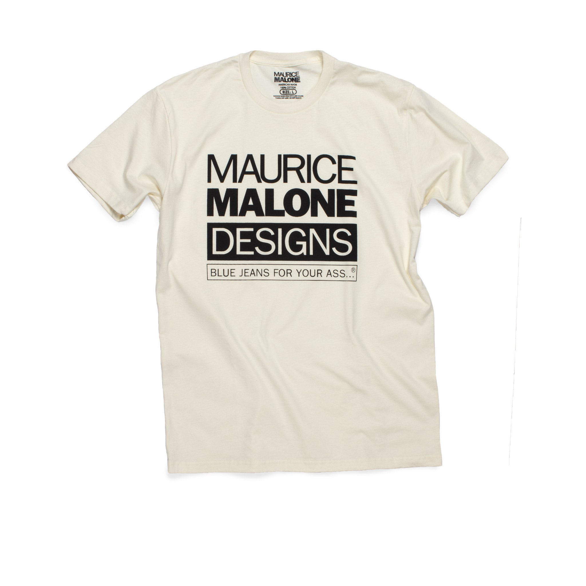 Natural Maurice Malone 1990's hip hop fashion t-shirt blue jeans for your ass