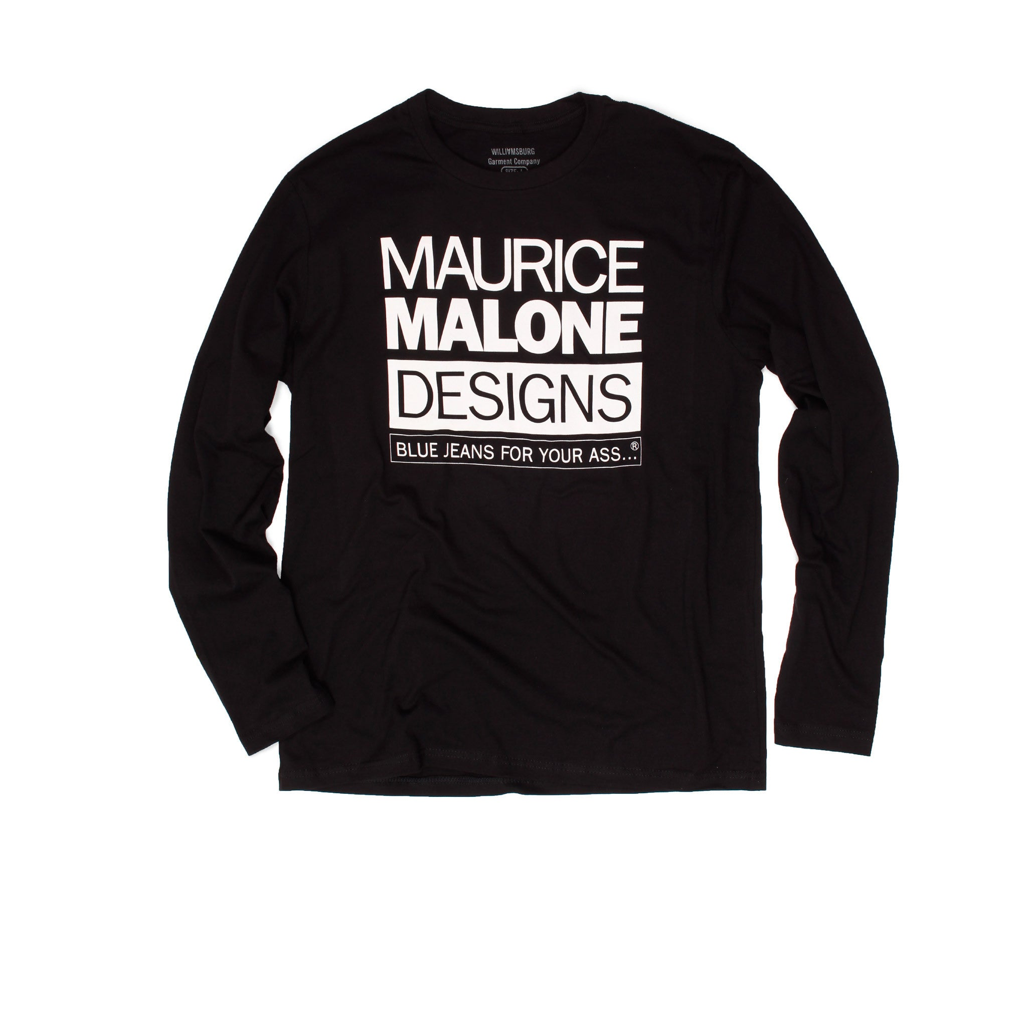 Maurice Malone long sleeve iconic black 90s designer hip-hop t-shirt