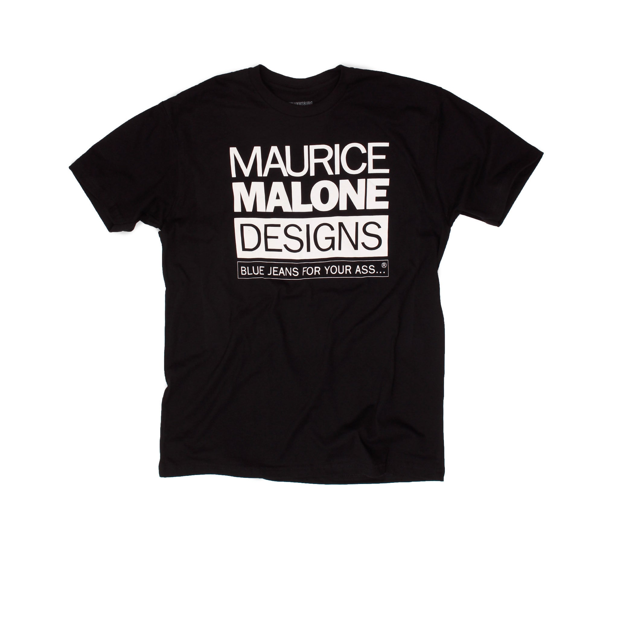 Maurice Malone black 90s hip hop fashion logo t-shirt