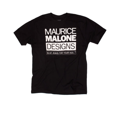 Maurice Malone 1990's vintage hip hop fashion t-shirt Black