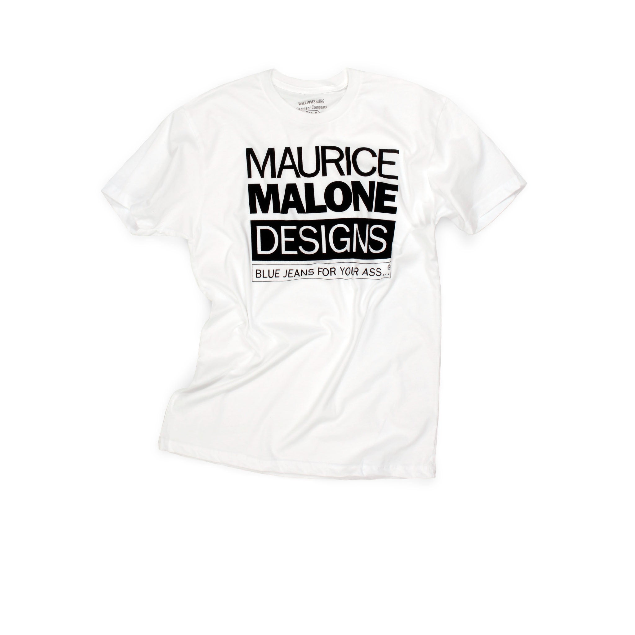 White Maurice Malone 90s iconic hip hop fashion t-shirt