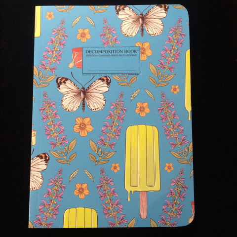 "Love this new ""Decomposition Book"" made of recycled paper! It's a popsicle kind of day! #hudsonvalley #escapebrooklyn #upstateny #iloveny #catskills #phoenicia #phoeniciany #write #book #decomposition tenderlandhome.com"