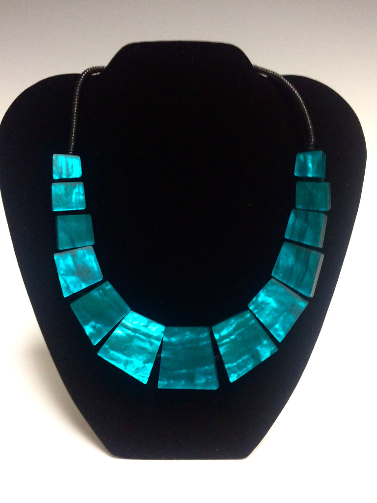 Blue Tribal Necklace