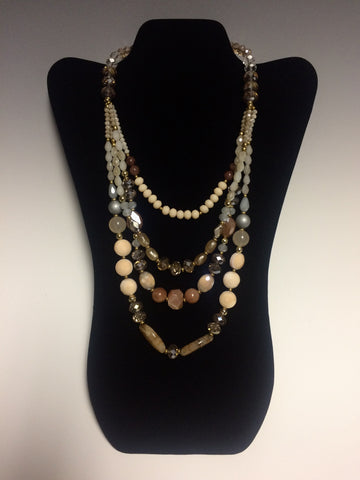 Faceted Crystal and Agate Necklace