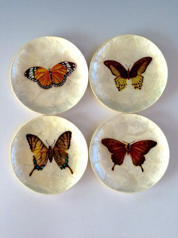 Butterfly Capiz Plate Set