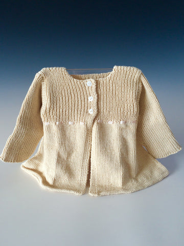 Handknit Baby 3 Button Sweater Dress