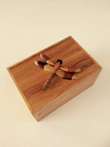 Handcrafted Wooden Dragonfly Box