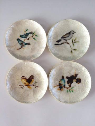 Bird Capiz Plate Set