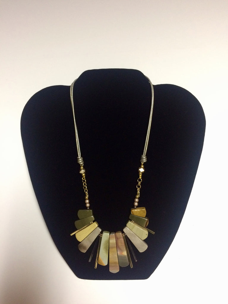 Gray and Brown Jasper Necklace