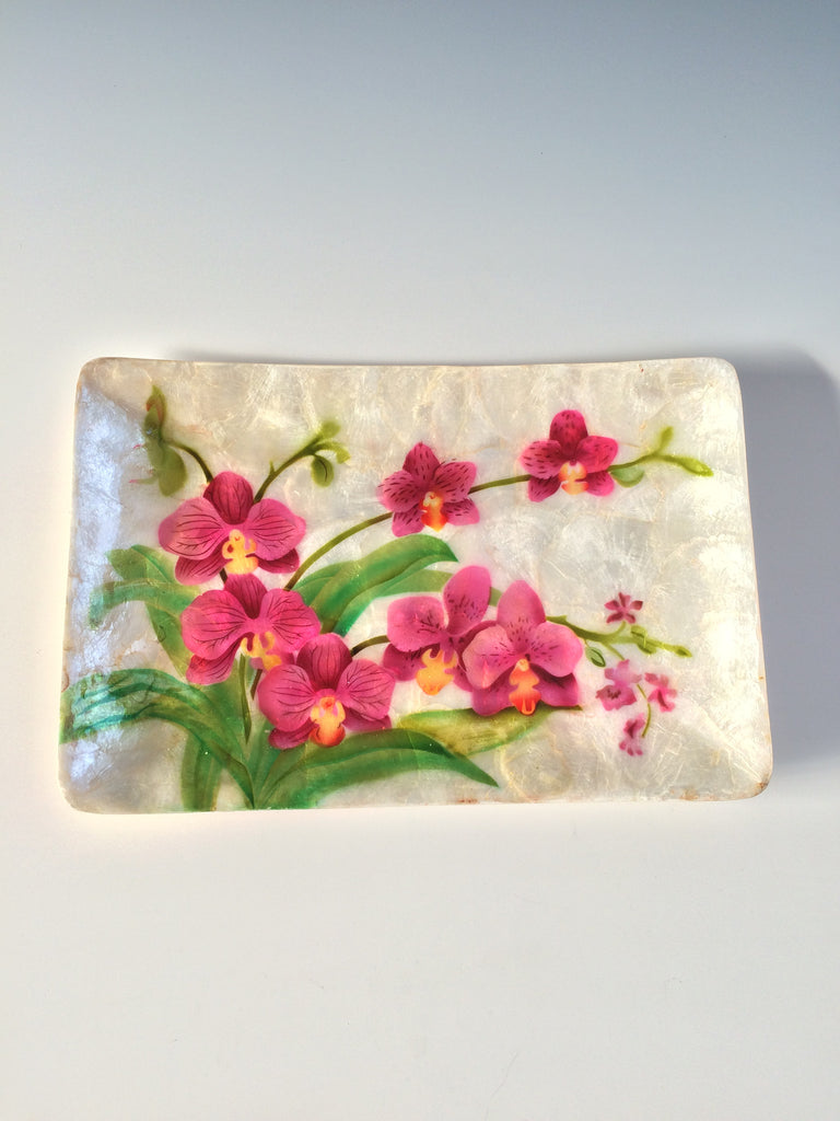 Orchid Capiz Tray Bird Trio Tray Tender Land Home gift Christmas  entertaining home accessories Mother's day birthday