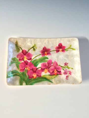 Orchid Capiz Tray