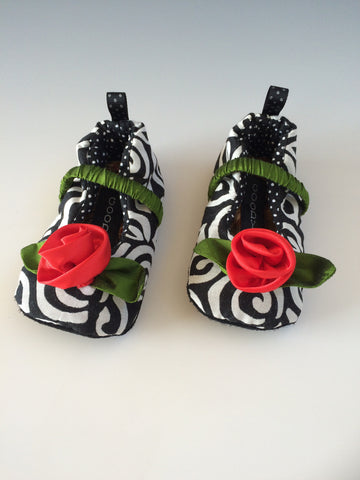 Silk Rose Baby Shoes