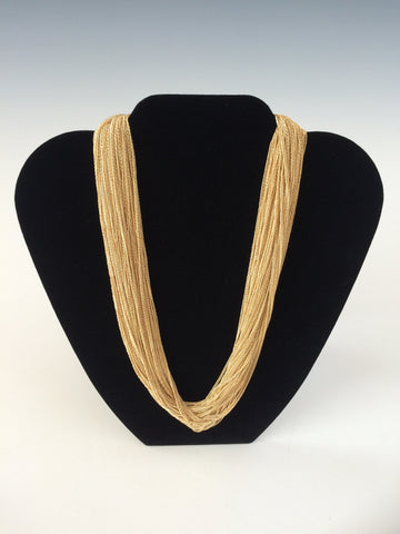 Silk Metal Necklace