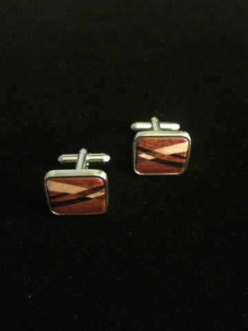 Three Inlaid Woods Cuff Links
