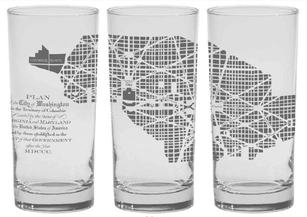 L'Enfant Map Glass Tumbler