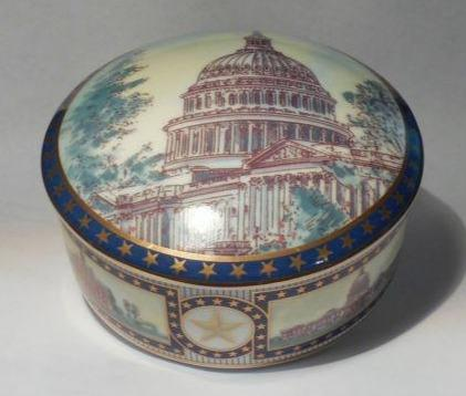 Tiffany & Co. U.S. Capitol Trinket Box in Porcelain