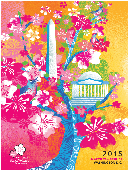 National Cherry Blossom Festival Official Poster (2015)