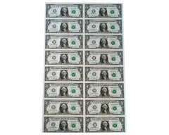 Uncirculated $1 Currency Sheets (4, 8, 16 and 32)