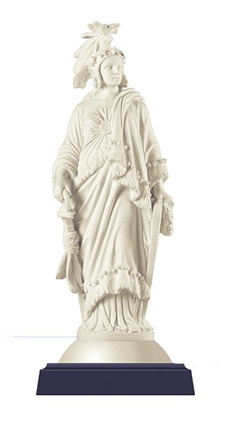 "Statue of Freedom Sculpture in Marble (5"")"