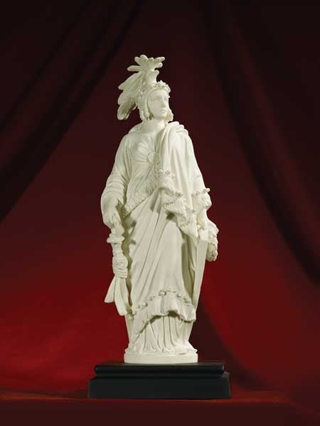"Statue of Freedom Sculpture in Marble (9"")"