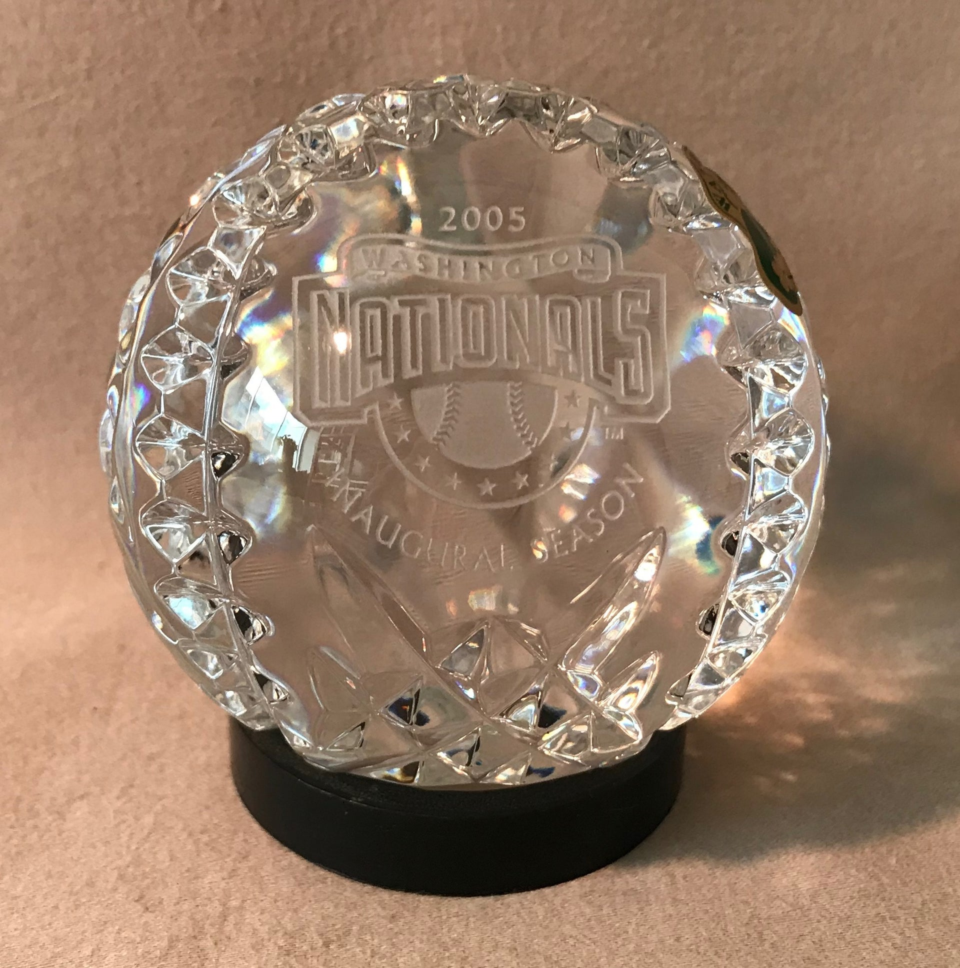 Waterford Commemorative Crystal Baseball - Washington Nationals Inaugural Season (2005)