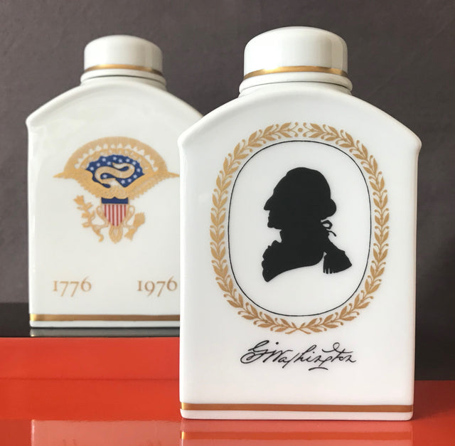 Royal Copenhagen Commemorative Tea Caddies (Pair)