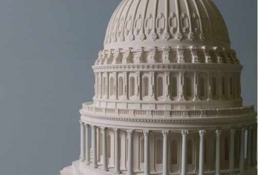 U.S. Capitol Building Architectural Model in Plaster