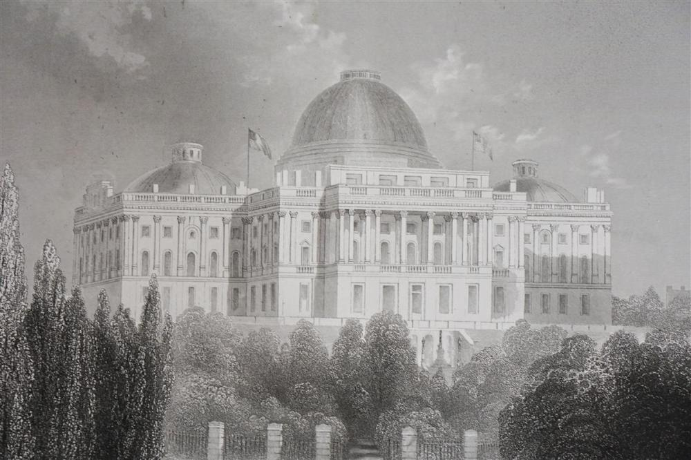 """Capitol of the United States at Washington"" Full-Sheet Engraving (Circa 1867)"